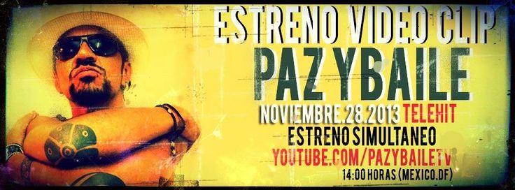 Mañana, 28 de noviembre (14 horas México), el ex Maldita Vecindad, Roco Pachukote, estrena clip, en simultáneo, en Telehit y redes sociales. PAZ Y BAILE.