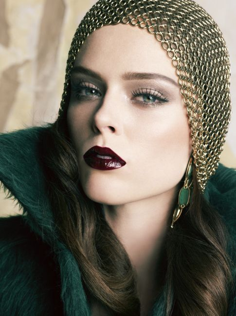 Chainmail headpiece - Coco Rocha, Vogue Mexico, September 2010. Photographed by Tesh.