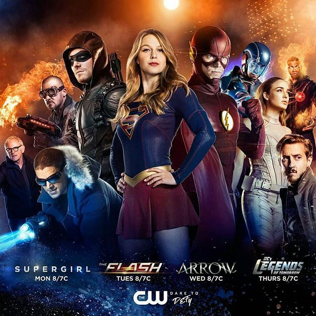 The mega crossover of The Flash, Supergirl, The Green Arrow, and DC's Legends of Tomorrow.