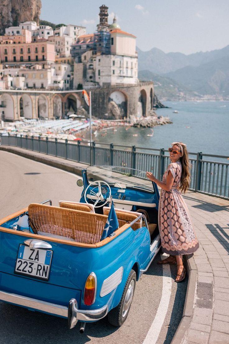 Amalfi Coast Drive dans une Fiat Jolly (Gal Meets Glam)