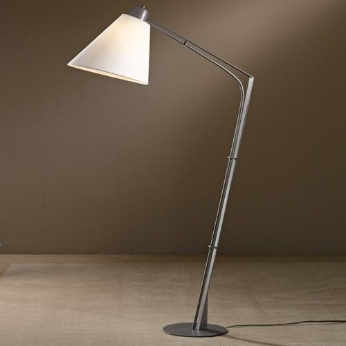 Natural anna shade reach floor lamp from hubbardton forge