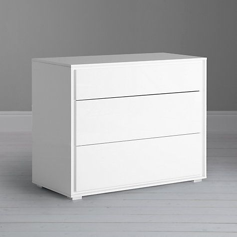 Buy John Lewis Napoli Gloss 3 Drawer Chest, White Online at johnlewis.com