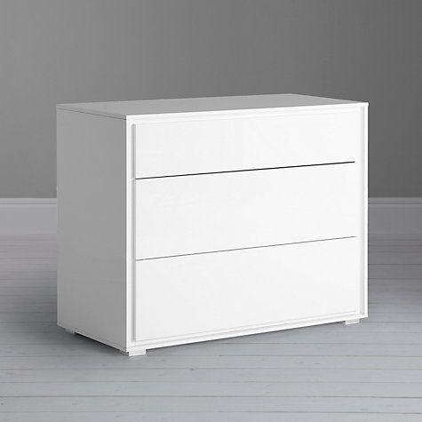 Buy John Lewis Napoli Gloss 3 Drawer Chest, White Online at johnlewis.com