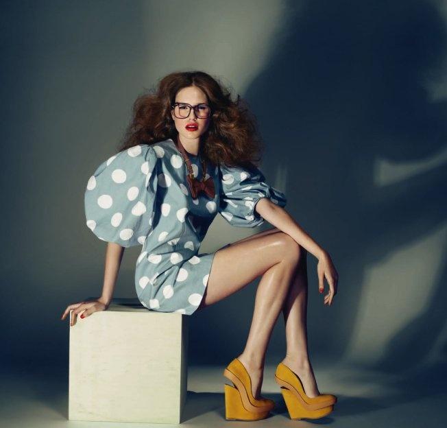 Dealer de luxe - Ivana Helsinki polka dot puff-sleeved dress #polkadots #retro #fashion #editorials