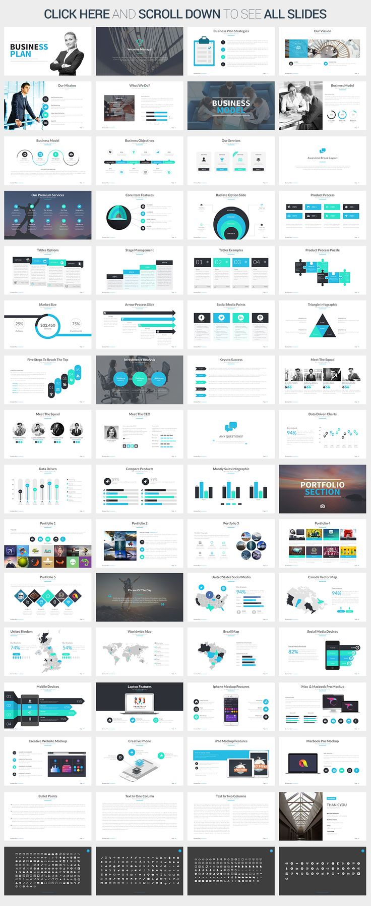Business Plan - Keynote Template by SlidePro on Creative Market