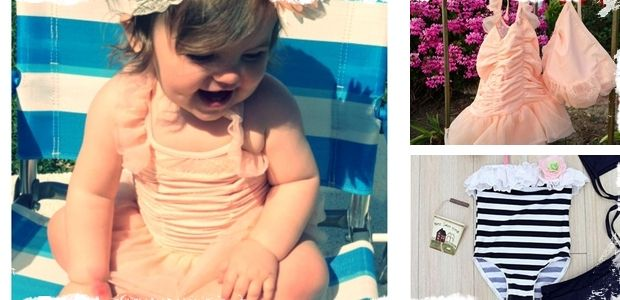 **My very good friends shop! Find her at  primpuniquebowtique.etsy.com   **Stylish Little Girls Swimsuit- Matching Bonnet and Skirt! at VeryJane.com