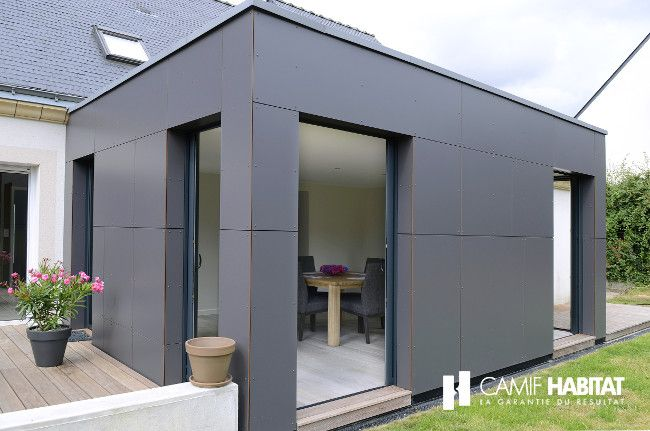 Extension de maison.  http://www.camif-habitat.fr/projet-immobilier/travaux-extension-agrandissement-maison.php