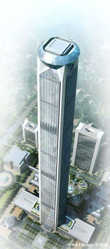 10 Tallest Buildings in the world completing in 2018 ,Goldin Finance 117 (596.5m) – Tianjin, China