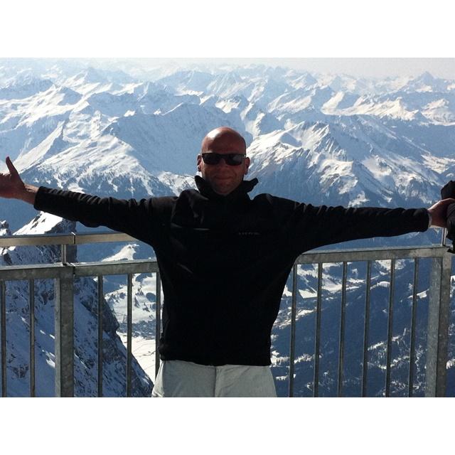 Wintersport 2012! Zugspitze....Prachtig uitzicht.
