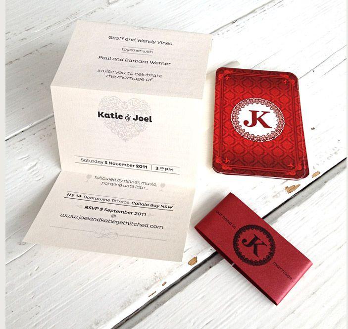 Joel and Katie Wedding Invitations