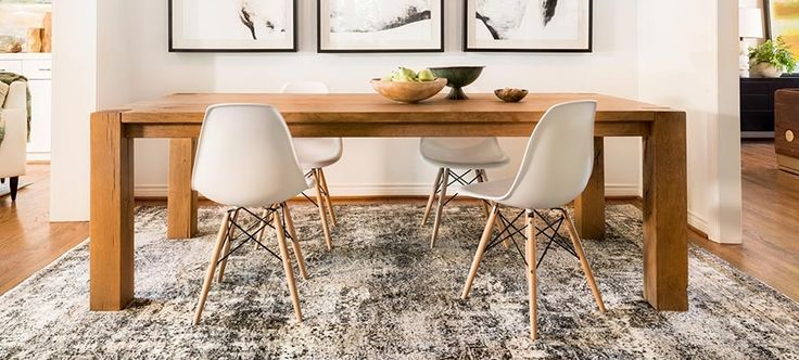 Transitional Rugs @ www.RugExpedition.com $35. Rug Pad Gift Certificate Code: 35pad. LOVE this table and the rug combined <3