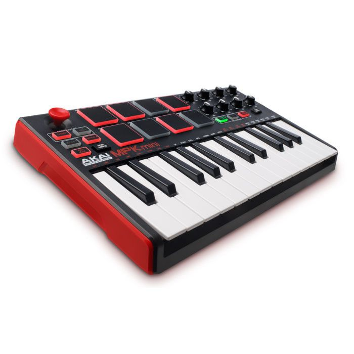 LAB POINTS - ultra-portable software MIDI controller with keys, pads, and knobs - 25-note, velocity-sensitive mini keyboard - 4-way thumbstick for pitch and modulation control - 8 backlit, velocity-se