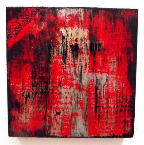 Εικόνα του Βαμμένο μπλοκ Γλυπτό Ξύλο Αφηρημένη Wall Art - αρχική αφηρημένη τέχνη, από την Rosemary Pierce