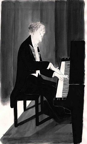Sempé / La musique donne une âme à nos coeurs et des ailes à la pensée.  Platon