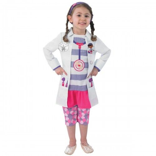 Girls Doc McStuffins Fancy Dress Birthday Party Costume ages 1-6 years £19.99