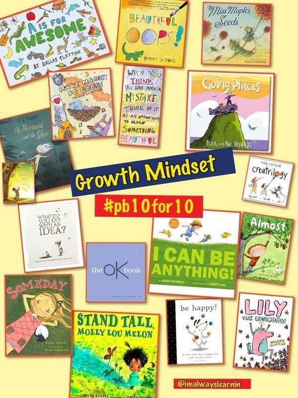 Growth Mindset books to use as a mentor text in the classroom.