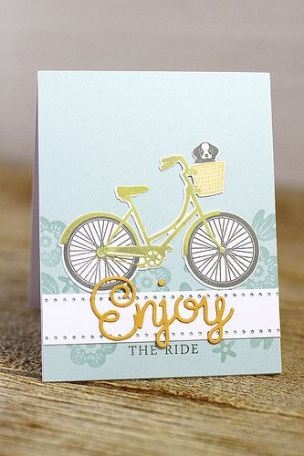 Enjoy The Ride Card by Erin Lincoln for Papertrey Ink (March 2016)