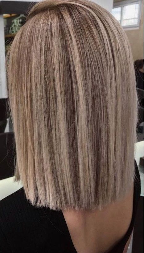 50 beautiful Balayage hair color ideas for blonde short straight hair