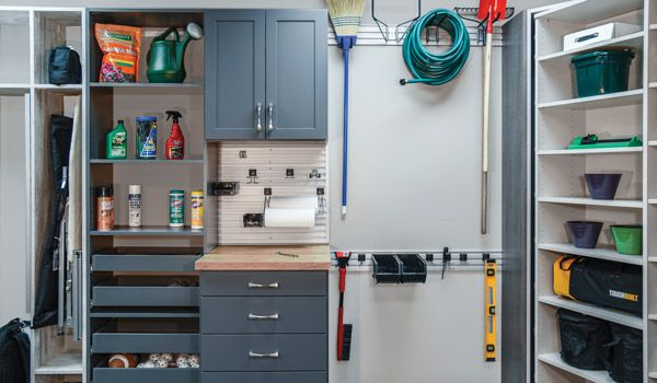 Garage cabinetry in Slate