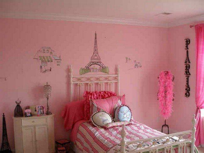 Pink-painted walls