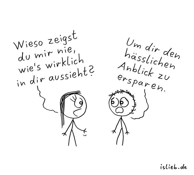 Verschlossen. Is lieb?   #strichmännchen #gefühle #depressiv #islieb