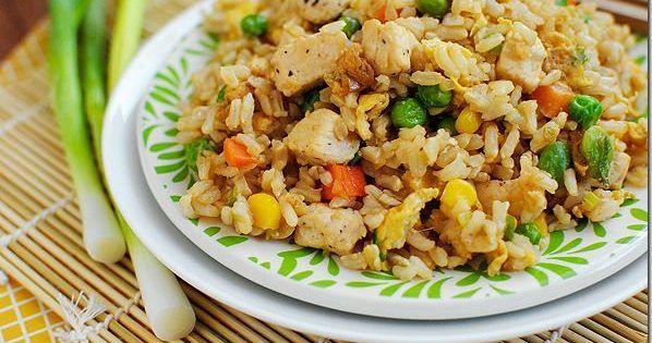 Riz «frit» au poulet — Roxanne Cuisine