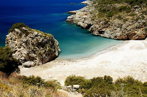 Fonea beach. This beach is found between the villages of kardamili and stoupa #beach #greece #messinia
