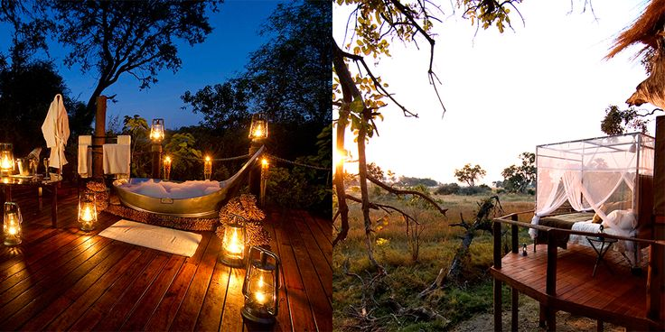 Why You're Going: Botswana is a perfect destination for honeymooners who take their adventure with a side of refinery. Teeming with wild game, Botswana is a safari-lover's paradise, and it's host of glamorous lodging accommodations give adventurers an intimate, five-star respite. Where You're Staying: Sanctuary Baines' Camp. The most intimate of Sanctuary Retreats' camps, this romantic oasis has just five suites. Sit under the stars in an outdoor bathtub or lounge on the sky bed on the…