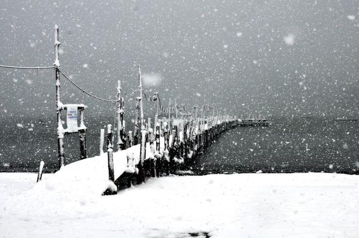 사색하기 좋은 고즈넉한 분위기의 겨울바다, 부산 다대포 해수욕장