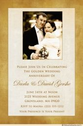 Beautiful Memories Of A Wedding Fifty Years Ago Are Shared On Clic Photo 50th Anniversary Invitation