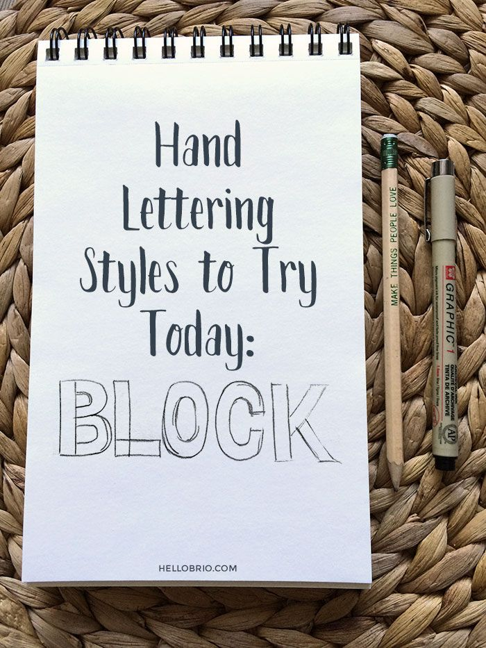 Hand Lettering Styles to Try Today Part 1: Block Lettering