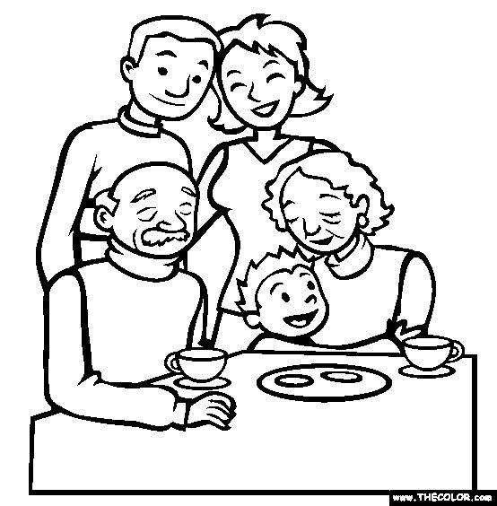 kleurplaat: een familie
