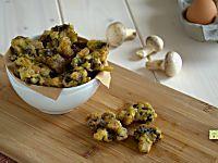 Frittelle di funghi, ricette con i funghi, antipasti autunnali