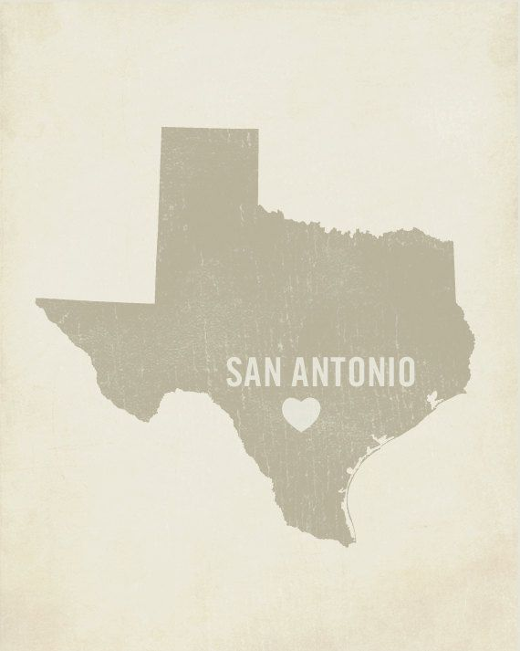 I Love San Antonio  Wood Block Art Print  Texas City by LuciusArt, $39.00