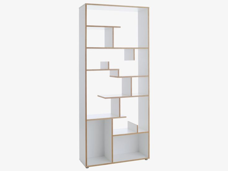Ludo Tall White Oak Shelving Unit And Wood