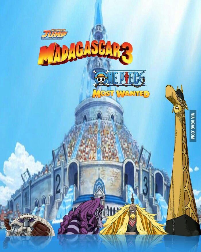 One piece Madagascar meme