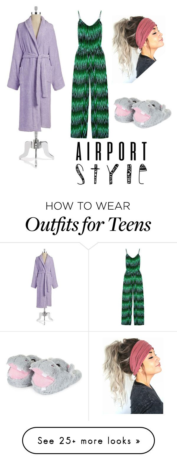 """""""Airport Style (6)"""" by ashley-anne-selvaggio on Polyvore featuring Lord & Taylor and airportstyle"""