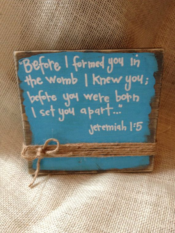 Wooden standalone quote/Bible verse sign by ClickCleckCollection, $25.00