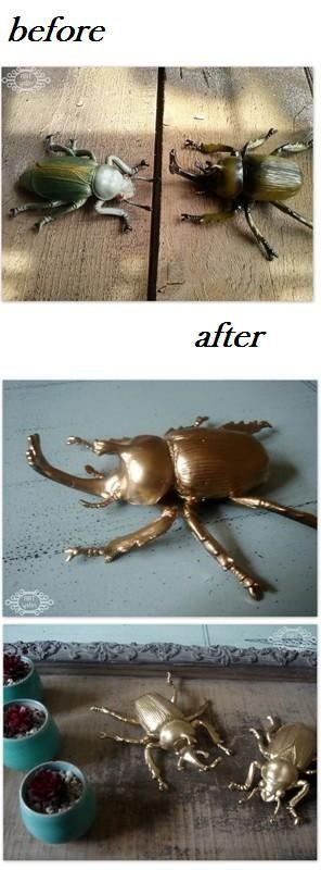 malowane zabawkowe owady-painted toy insects