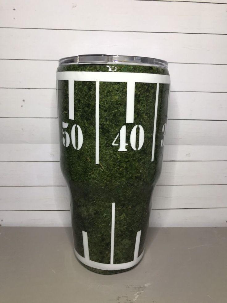 Football field tumbler tumbler custom tumblers acrylic