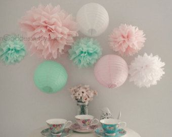 gray, mint, and pink baby room - Google Search
