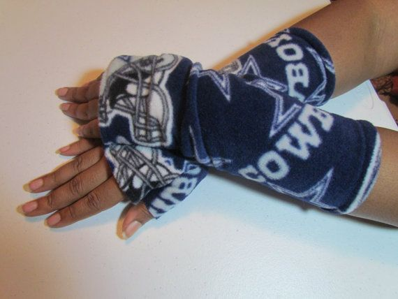 Dallas Cowboys Fleece Long Gloves Arm warmers by TheGoldenWoods