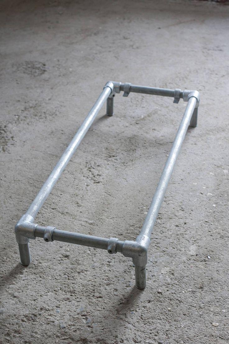 Matalan hyllykön runko Pit. 108 cm - low pipe shelf - putkihylly - putkitaso -   Domus Classica verkkokauppa