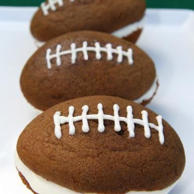 football partyFootball Treats, Desserts, Ideas, Football Seasons, Football Whoopie, Food, Super Bowls, Football Parties, Whoopie Pies
