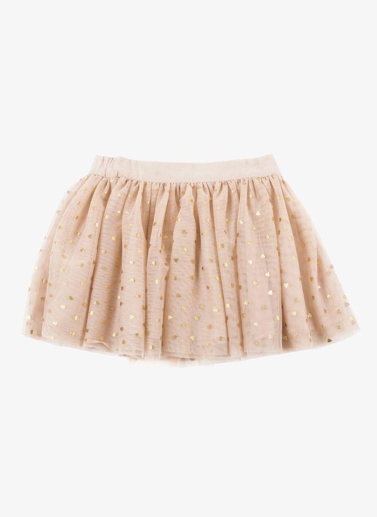 Stella McCartney Honey Tulle Skirt - Beige Pink - 348914