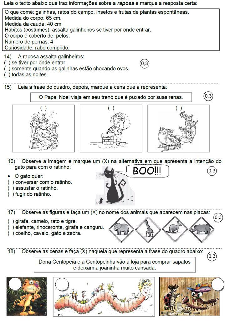 Atividades para Educadores AVALIAÇÃO BIMESTRAL DE LÍNGUA PORTUGUESA