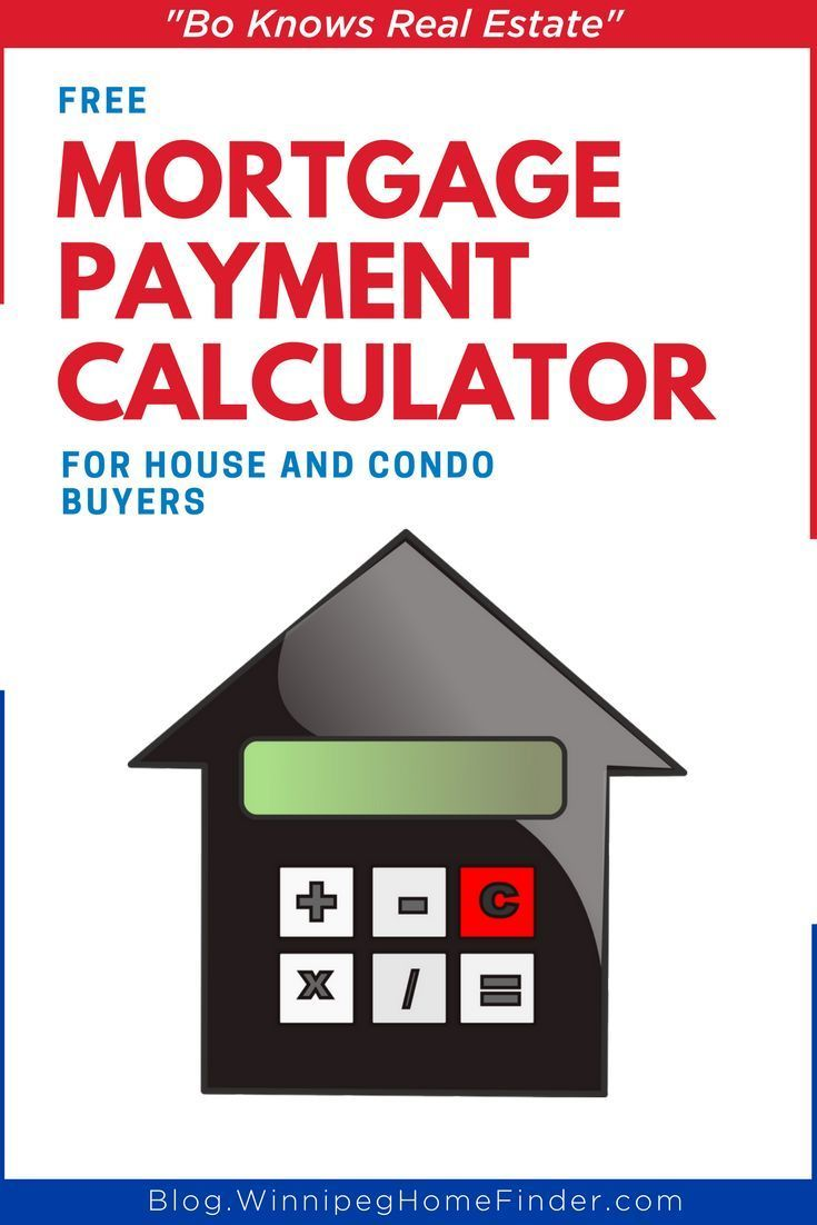 Mortgage Payment Calculator For Winnipeg House And Condo Buyers Mortgage Payment Calculator Mortgage Payment Mortgage Calculator