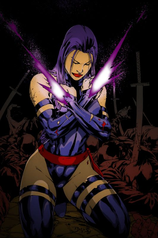 Psylocke Colored by GrimmjowJaggerjack52 on deviantART