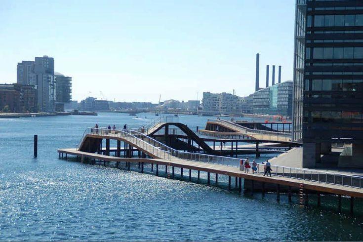 Kalvebod Waves, Copenhagen, Denmark - design by KLAR + Julien de Smedt Architects - Copenhagen harbour front project, Danish waterfront architecture