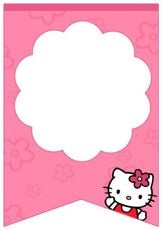 Free Free Printable Hello Kitty Baby Shower Invitation Template